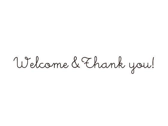 ウェディングスタンプ メッセージ(Welcome&Thank you!) WD-91