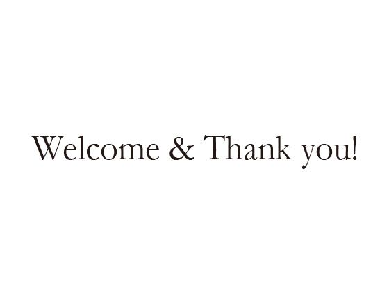 ウェディングスタンプ メッセージ(Welcome&Thank you!) WD-92