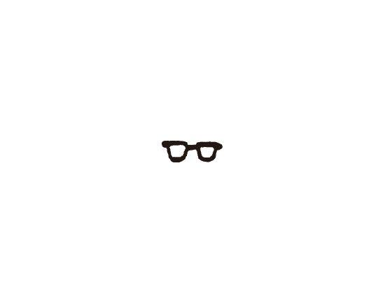 ウェディングスタンプ プチスタンプ メガネ